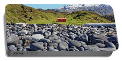 Portable Battery Charger featuring the photograph Rocky Beach Iceland by Edward Fielding