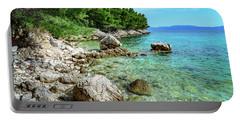 Rocky Beach On The Dalmatian Coast, Dalmatia, Croatia Portable Battery Charger