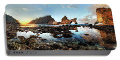 Portable Battery Charger featuring the photograph Rocky Beach Sunrise, Bali by Pradeep Raja Prints