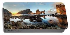 Rocky Beach Sunrise, Bali Portable Battery Charger