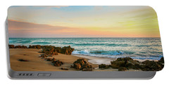 Rocky Beach Portable Battery Charger by Tom Claud