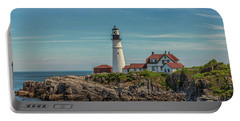 Rocky Coast At Portland Head Light Portable Battery Charger