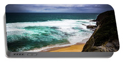 Portable Battery Charger featuring the photograph Rocky Coast by Perry Webster
