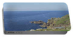 Rocky Coastline At Land's End Portable Battery Charger