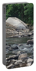 Portable Battery Charger featuring the photograph Rocky Creekbed Catskill Creek by Ellen Levinson