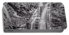 Portable Battery Charger featuring the photograph Rocky Falls - Bw by Christopher Holmes
