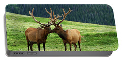 Portable Battery Charger featuring the photograph Rocky Mountain Elk 2 by Marie Leslie