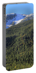 Rocky Mountain Evergreen Landscape Portable Battery Charger