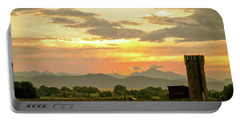 Portable Battery Charger featuring the photograph Rocky Mountain Front Range Country Landscape by James BO Insogna