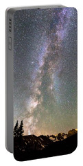 Rocky Mountain Milky Way And Falling Star Portable Battery Charger