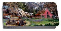 Rocky Mountain Ranch Portable Battery Charger by Ron Chambers