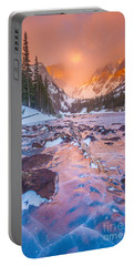 Rocky Mountain Sunrise Portable Battery Charger by Steven Reed