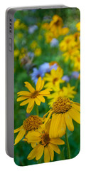 Portable Battery Charger featuring the photograph Rocky Mountain Wildflowers by Cascade Colors