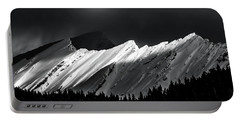 Rocky Mountains In Moonlight Portable Battery Charger