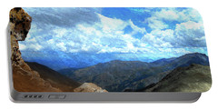 Rocky Mountains Vista Oil Painting Portable Battery Charger