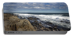 Rocky Shore Line Two Lights Maine  Portable Battery Charger