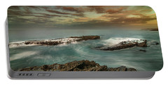 Rocky Shores At Victoria Beach Portable Battery Charger