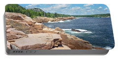 Rocky Summer Seascape Acadia National Park Photograph Portable Battery Charger by Keith Webber Jr
