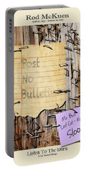 Rod Mckuen Tribute Poster Portable Battery Charger