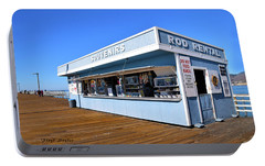 Portable Battery Charger featuring the photograph Rod Rental At The Pismo Beach Pier by Floyd Snyder