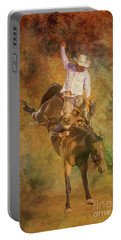 Rodeo Bronco Riding Three Portable Battery Charger
