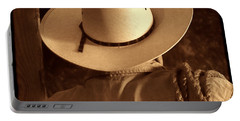 Rodeo Cowboy Portable Battery Charger by American West Legend By Olivier Le Queinec