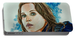 Portable Battery Charger featuring the painting Rogue by Joel Tesch