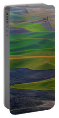 Rolling Fields Of The Palouse Portable Battery Charger by James Hammond