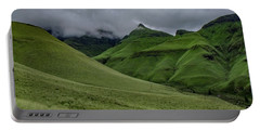 Portable Battery Charger featuring the photograph Rolling Green Drakensberg Mountains by Gaelyn Olmsted