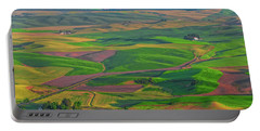 Rolling Green Hills Of The Palouse Portable Battery Charger by James Hammond