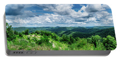 Rolling Hills And Puffy Clouds Portable Battery Charger