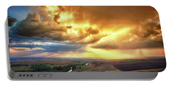 Rolling Rain Of Summer Sunset Portable Battery Charger