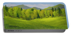 Portable Battery Charger featuring the painting Rolling Spring Pastures  by Frank Wilson