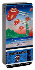 Rolling Stones 1981 Ticket And Poster Portable Battery Charger