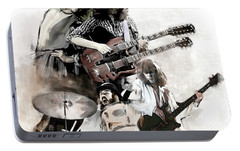 Rolling Thunder Led Zeppelin Portable Battery Charger by Iconic Images Art Gallery David Pucciarelli