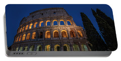 Roman Coliseum In The Evening  Portable Battery Charger