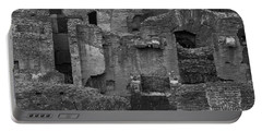 Portable Battery Charger featuring the photograph Roman Colosseum Bw by Silvia Bruno
