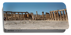 Portable Battery Charger featuring the photograph Roman Ruins At Ajloun by Mae Wertz