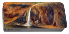 Portable Battery Charger featuring the painting Violin by Randol Burns
