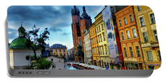 Romance In Krakow Portable Battery Charger by Kasia Bitner
