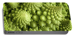 Romanesco Broccoli Vegetable Close Up Portable Battery Charger