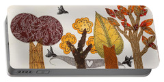 Romantic Autumnal Grove Portable Battery Charger
