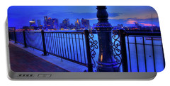 Portable Battery Charger featuring the photograph Romantic Boston - Boston Skyline At Night by Joann Vitali