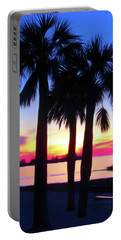 Portable Battery Charger featuring the photograph Romantic Skies Beach Sunset by Aimee L Maher Photography and Art Visit ALMGallerydotcom