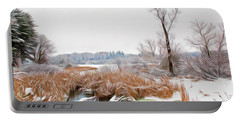 Portable Battery Charger featuring the photograph Romantic Skies Winters Glory by Aimee L Maher Photography and Art Visit ALMGallerydotcom