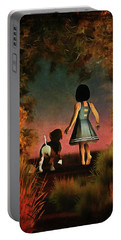 Romantic Walk In The Woods Portable Battery Charger