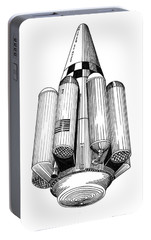 Rombus Heavey Lift Reusable Rocket Portable Battery Charger by Jack Pumphrey