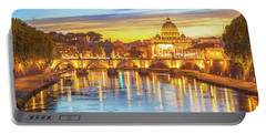 Rome At Twilight Portable Battery Charger