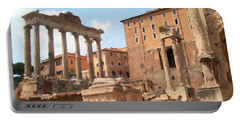 Rome The Eternal City And Temples Portable Battery Charger