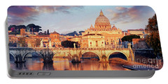 Rome The Eternal City - Saint Peter From The Tiber Portable Battery Charger